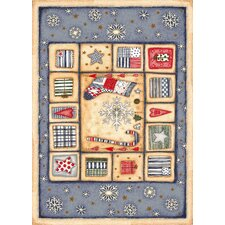 Winter Seasonal Holiday Patch of Snow Novelty Rug