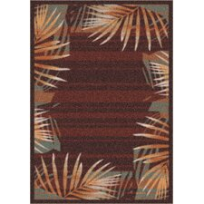 Modern Times Palm Dark Chocolate Rug