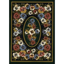Spring Seasonal Garden View Sunset Rug