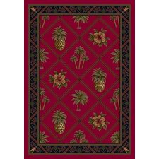 Signature Ruby Palm and Pineapple Novelty Rug