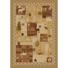 Signature Deer Trail Maize Novelty Rug