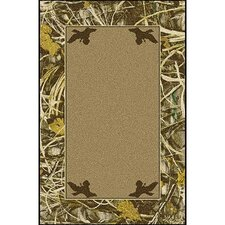 Realtree Max 4 Solid Center Novelty Rug