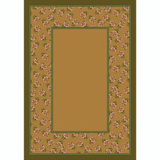 Design Center Rambling Rose Maize Rug