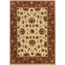 Knightsbridge Beige/Red Rug