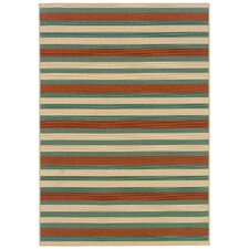 Montego Blue/Orange Multi Rug