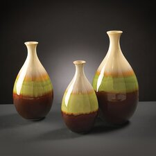 3 Piece Teardrop Ceramic Vase Ser