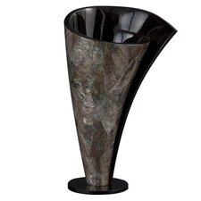 Short Mother of Pearl Twisted Vase