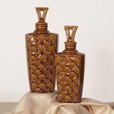 2 Piece Urn with Lid Set