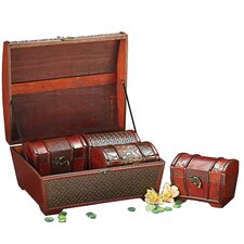 4 Piece Decorative Treasure Chest Box Set