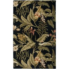 Waverly Black Tropical Rug