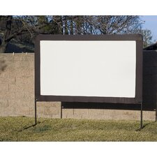 Outdoor Floor Set Folding Frame Projection Screen