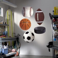 Assorted Sports Ball Graphics Wall Graphic