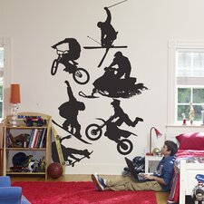 Assorted Action Sports Silhouettes Wall Graphic