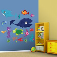 Sea Creatures Group One Wall Graphic