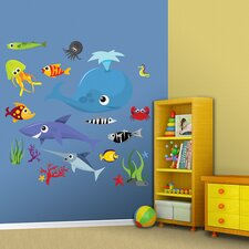 Sea Creatures Group Two Wall Graphic