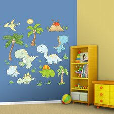 Baby Dinosaurs Wall Graphic