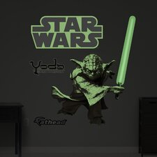 Star Wars Yoda Glow in the Dark Wall Graphic