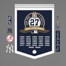 MLB New York Yankees World Series Championships Banner Wall Graphic