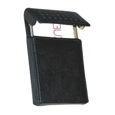 Hinged Card Case in Black