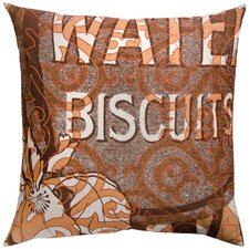 Press Cotton Print Water Biscuits and Tile Pillow
