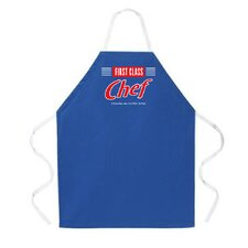 First Class Chef Apron in Dark Blue