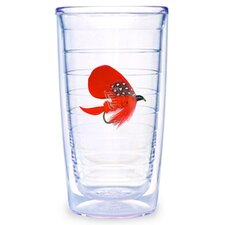 Fish Flies Red 16 oz. Tumbler (Set of 4)