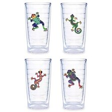 Gecko / Frog Assorted 16 oz. Tumbler (Set of 4)