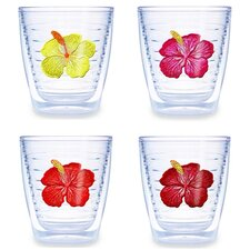 Hibiscus Assorted 12 oz. Tumbler (Set of 4)