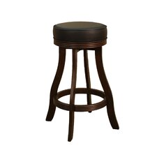 Designer Stool in Sierra with Black Leatherette