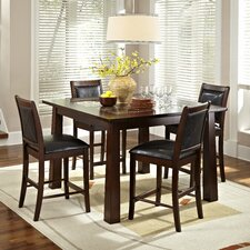 Granita 5 Piece Counter Height Dining Set