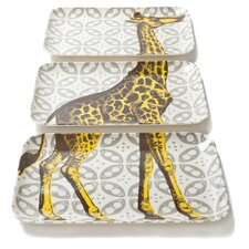 Bazaar Giraffe Tray (Set of 3)