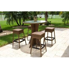 Grenada 5 Piece Patio Bar Height Dining Set