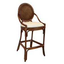 "Oyster Bay Indoor Rattan 30"" Stationary Bar Stool"