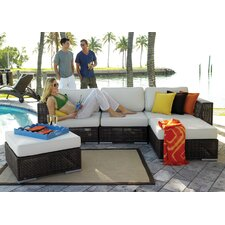 Soho 5 Piece Deep Seating Group with Cushions
