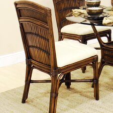 Polynesian Dining Side Chair with Cushion