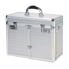 Beauty Case with 2 Extendable Trays & Lid Brush Or Pencil Pockets
