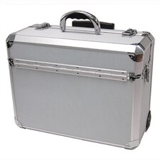 "Rolling Pilot Case: 8"" H x 18 1/4"" W x 13 3/4"" D (outside)"