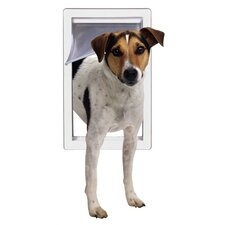 Small Pet Door with Telescoping Frame