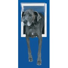 Small White Aluminum Pet Door