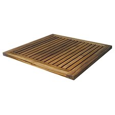 "Le Spa 24"" Square Framed Teak Floor and Shower Tile in Oiled Finish"