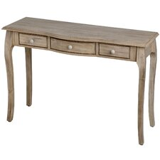 Traditional 3 Drawers Console Table