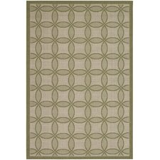 Five Seasons Green Retro Clover Rug
