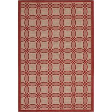 Five Seasons Red Retro Clover Rug