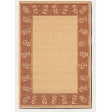 Recife Tropics Natural/Terracotta Novelty Rug