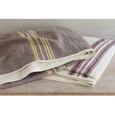 Rustic Linen Blanket and Sham