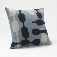 Overlap Crewel Linen Pillow