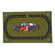 All Stars Race Car Road Kids Rug