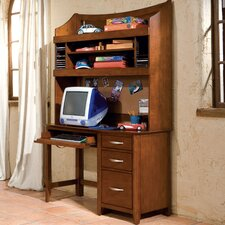 "Village Craft 47"" W Computer Desk and Hutch Set"