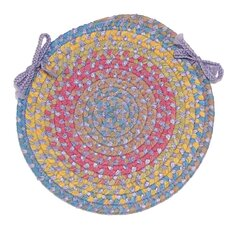 Botanical Isle Round Braided Chair Pad
