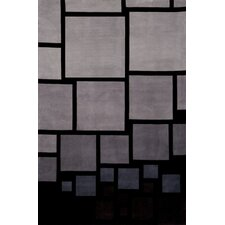 New Wave Black/Gray Rug